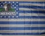 Minnesota Timberwolves NBA USA Stars & Stripes 3x5 Flag Banner - USA seller ship