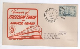 Red Freedom Train to Augusta Georgia 1947 Cover! Transfer Office Postmark - $7.99