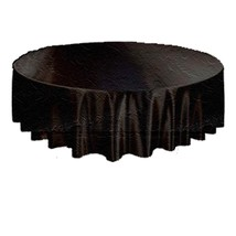 BLACK-Gothic Damask Brocade ROUND TABLE CLOTH TOPPER Halloween Decoratio... - $6.90