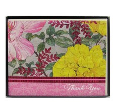 Hallmark Floral Flowers Kitts Garden Thank You Cards With Envelopes Blank 10 Ct - $10.88