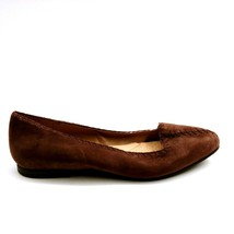 Lands' End Womens 474013 Stitched Flats Chocolate Brown 9E - $30.37