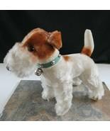 Maruei Toys Tokyo Japan Wire Hair Terrier Vintage Stuffed Dog Animal Bel... - $49.49