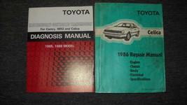1986 Toyota Celica Service Repair Shop Manual Set 86 W Diagnosis Book FEO - $98.98