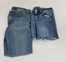 Lot of 2 Distressed & Raveled Hems American Eagle Womens Size 2 Jeans Sh... - $27.80