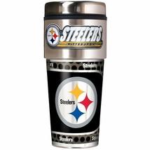 NFL Pittsburgh Steelers 16oz Travel Tumbler with Metallic Wrap NFL Team ... - $21.77