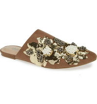 Charles by Charles David Women's Fickle Embellished Mule Taupe 5.5 M - $49.49