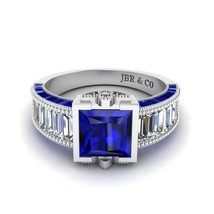 Jbr Blue Sapphire Sterling Silver Engagement Ring - $110.00