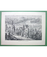 AMERICAN WEST Captain de Wogan at Indian War Post Torture - 1858 Antique... - $10.12