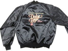 80s Retro DODGE BOYS Have More Fun Graphic Black Snap Up Jacket Adult Si... - $128.65