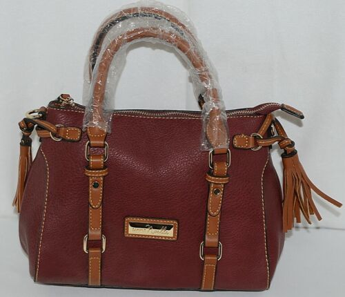 Simply Noelle Brand HB247 Burgundy Color Purse with Side Tassels