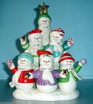 Lenox Snowmen Sentiments Figurine Peace Hope Joy Grace Happiness Faith N... - $59.90