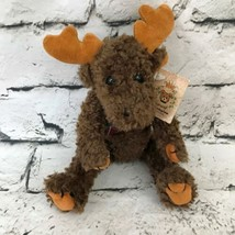 The Bearington Collection Reggie Moose Plush Brown Soft Jointed Stuffed ... - $9.89
