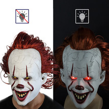 Halloween Clown Back Spirit 2 Pennywise Latex Mask Dress Up Props Smiley... - £22.29 GBP