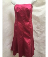 Davids Bridal 10 Dress Pink Satin Strapless Flare Mermaid Prom Bridesmai... - $36.24