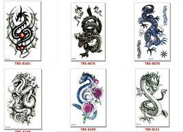 Dragon Temporary Tattoos Body Arm Sticker Half Sleeve Fake Waterproof (6 sheets) image 3