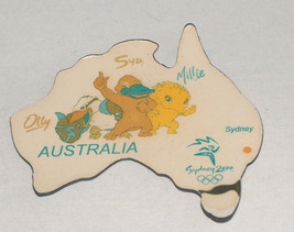 SYDNEY AUSTRALIA 2000 OLYMPICS OLLY SYD MILLIE MASCOT REFRIGERATOR MAGNET - $11.94