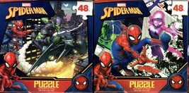 Marvel Spider-Man - 48 Pieces Jigsaw Puzzle (Set of 2) - $15.83
