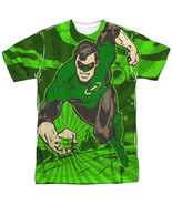 Authentic DC Comics Green Lantern Radiant Power Sublimation Front T-shirt top - $26.99 - $31.99