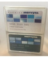DOUBLE PACKS PREMIER MERVYNS CREDIT CARD LIKE Deck Playing Cards FACTORY... - $10.49