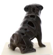 Hagen-Renaker Miniature Ceramic Dog Figurine Pug Black Mama Sitting image 3