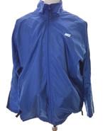 NIKE Blue Nylon Zippered Jacket with inside Lining Men's large Windbreaker - $38.00