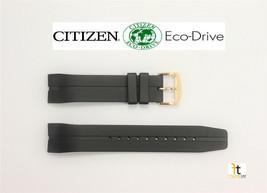 Citizen Eco-Drive 4-S067634, JR4046-03E Original Black Rubber Watch Band Strap  - $69.95