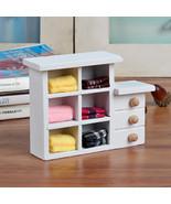 Blanco Gabinete de madera Mini Miniatura de Los Muebles de Jardín De Had... - $9.50