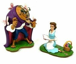 Disney Parks 2017 Belle Beauty & Beast with Butterflies 2 Figurine Set New - $197.99