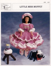 Little Miss Muffet, Vicky's Treasures Crochet Doll Clothes Patterns 11002 - $5.95
