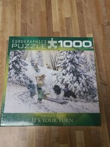 New. EuroGraphics IT'S YOUR TURN Jigsaw Puzzle Douglas Laird 1000-Piece Winter - $17.09
