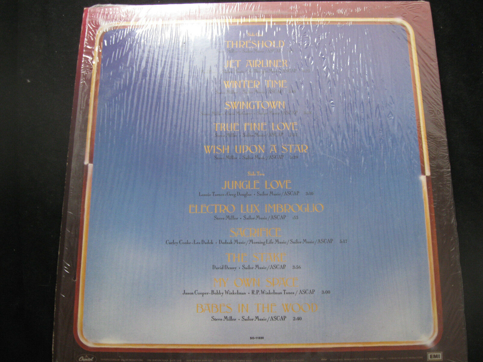 Steve Miller Band Book Of Dreams Capitol SQ-11630 Vinyl Record LP Open Shrink image 2
