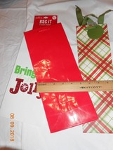 New lot 3 pretty wide Hallmark Christmas wine liquor gift bags Bring The... - $4.95
