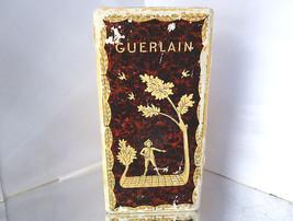 Vintage Guerlain Mitsuko Perfume Box Empty Brown Harvest Scene France - $13.00