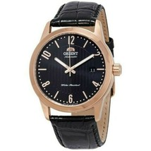The Orient FAC05005B0 Men's Black Leather Strap with Black Analog Dial W... - $134.35