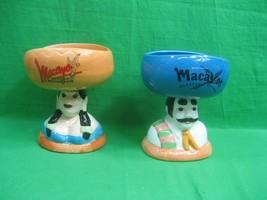 Macayo's Mexican Restaurant Ceramic Margarita Glasses Senior & Senorita (2) - $28.01