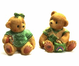Cherished Teddies Mini Paws For Luck Irish Boy & Girl 476943 Original Bo... - $24.70
