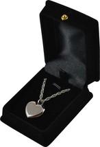"""Silver Heart Pendant w/20"""" chain & black velvet display box - $149.99"""