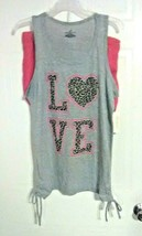 Bobbie Brooks Woman's Tank Top & Shorts Pajama Set - LOVE - Plus Size: 2X - $11.61