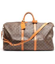 Auth Louis Vuitton Hand Bag Brown Louis Vuitton Keepall Zipper Logo LVB0582 - $731.61