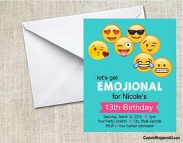 Emojis Emoji Birthday Party Invitations Personalized  Custom - $0.99+