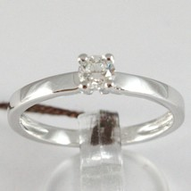 White Gold Ring 750 18K, Solitaire, Shank Square, Diamond Carat 0.27 image 1