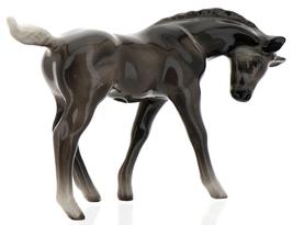 Hagen-Renaker Miniature Ceramic Horse Figurine Silver Black Morgan Colt image 2