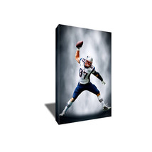ROB GRONKOWSKI Gronk Spike Poster Photo Painting Artwork on CANVAS Wall Art - $36.00+
