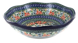 Polish Pottery Maria Large Scallop Bowl - $125.86