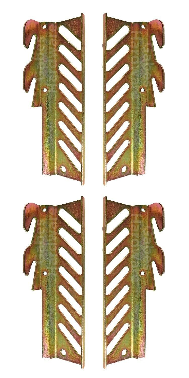"Primary image for 7 5/16"" Bolt to Hook on Bed Frame Headboard Conversion Plate Adapters, 2 Pairs"