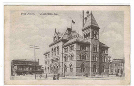 Post Office Covington Kentucky 1918 postcard - $5.94