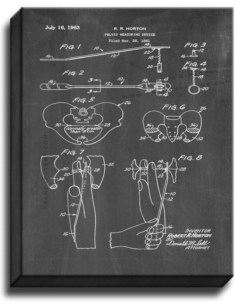 Primary image for Pelvic Measuring Device Patent Print Chalkboard on Canvas
