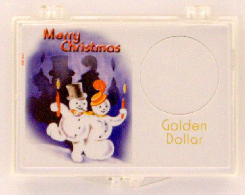 Golden Dollar Christmas - Snowmen 2X3 Snap Lock Coin Holder, 3 pack