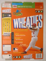 Empty Wheaties Box 2005 12oz Albert Pujols [Z202e7] - $3.99