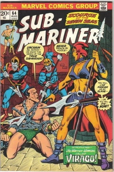 Primary image for The Sub-Mariner Comic Book #64 Marvel Comics 1973 FINE-